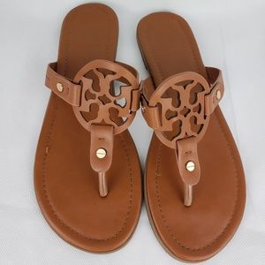 TORY BURCH Leather Brown Sandals Size 40